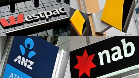 Collage of the Big Four Bank Logos