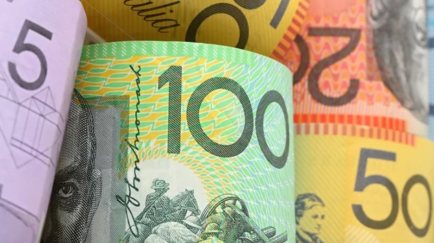 Assorted Australia Notes from 5 to 100 dollar denominations